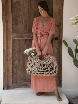Robe Melody Rose Hazel + Folk vue de face | Location Se Casan